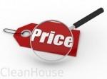 Изменение цен на услуги клининговой компании Clean House