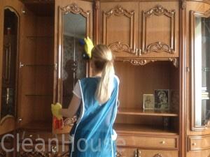 Придание блеска стеклянным поверхностям. Домработница в Москве.