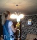 Удаление пыли с потолочных светильников. Домработница в Москве.
