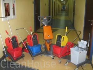 Профессиональный инвентарь для уборки клининговой компании CleanHouse