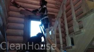 Уборка деревянного дома клининговой компанией CleanHouse