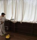 Уборка в коттедже, химчистка штор от Clean House