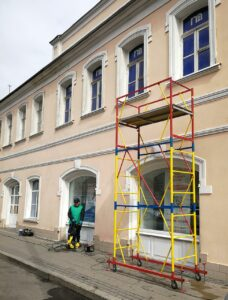 Мытье крашенных фасадов от Clean House